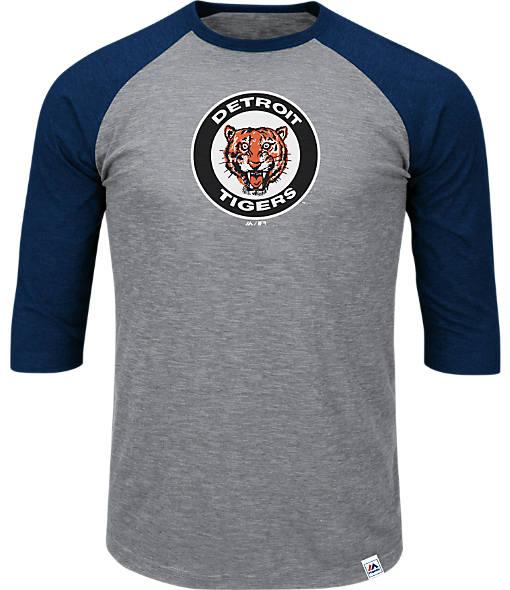 Men's Majestic Detroit Tigers MLB Margin Raglan T-Shirt