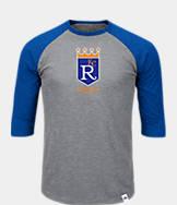 Men's Majestic Kansas City Royals MLB Margin Raglan T-Shirt
