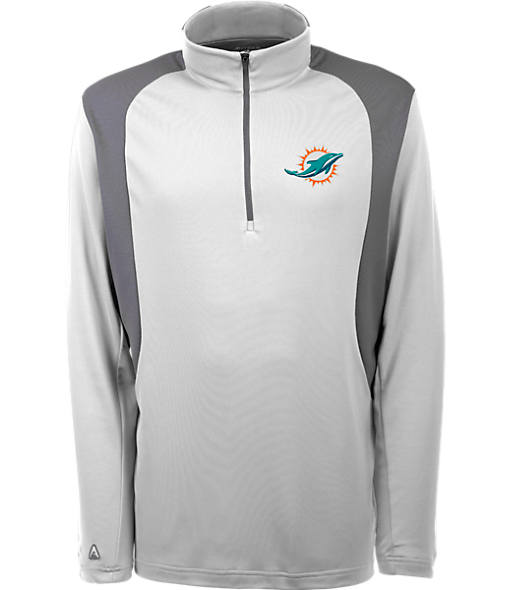 Men's Antigua Miami Dolphins NFL Delta Quarter Zip Shirt