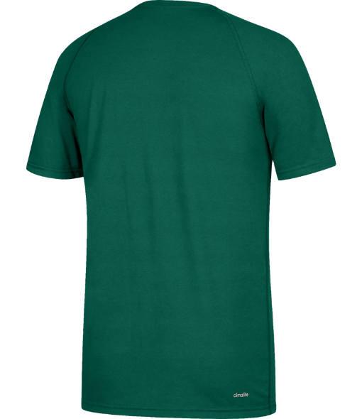 Men's adidas Miami Hurricanes College Sideline Mantra T-Shirt