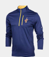 Men's Majestic Cleveland Cavaliers NBA Exclamation Point Quarter-Zip Shirt
