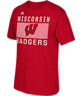 Men's adidas Wisconsin Badgers College Big Pattern Name T-Shirt