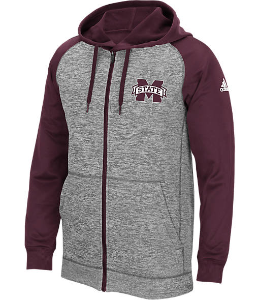 Men's adidas Mississippi State Bulldogs College Climawarm Team Issue Full-Zip Hoodie