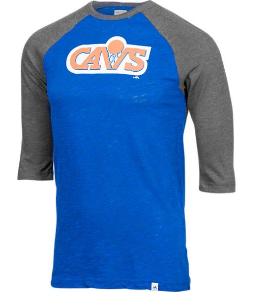 Men's Majestic Cleveland Cavaliers NBA Equal Effort Baseball T-Shirt