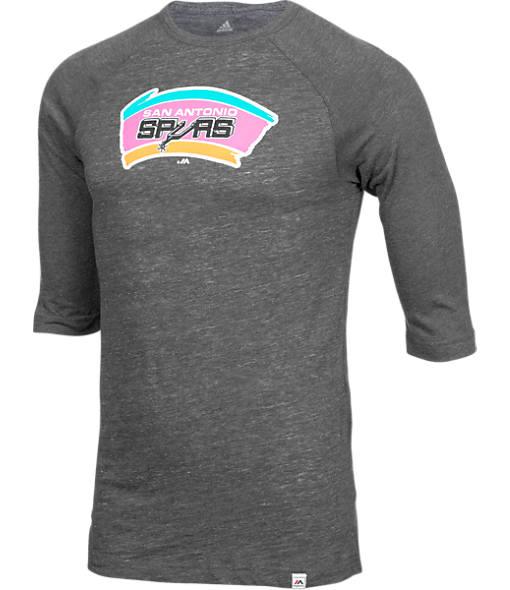 Men's Majestic San Antonio Spurs NBA Equal Effort Baseball T-Shirt