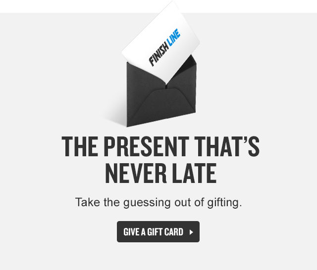 The Present That's Never Later. Give A Gift Card.