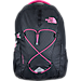 Front view of Women's The North Face Jester Backpack in Black/Pink Petticoat