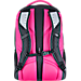 Back view of Women's The North Face Jester Backpack in Black/Pink Petticoat