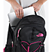 Alternate view of Women's The North Face Jester Backpack in Black/Pink Petticoat