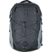 Front view of The North Face Borealis Backpack in Dark Grey Heather/Med Grey