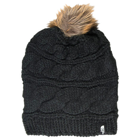 Women's The North Face Triple Cable Fur Pom Hat