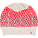 Front view of Women's The North Face Tribe N True Beanie in Vintage White/Biking Red