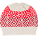 Back view of Women's The North Face Tribe N True Beanie in Vintage White/Biking Red