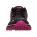 Front view of Women's The North Face Litewave TR Trail Running Shoes in TNF Black/Raspberry Rose