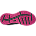 Bottom view of Women's The North Face Litewave TR Trail Running Shoes in TNF Black/Raspberry Rose