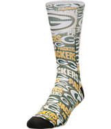 For Bare Feet Green Bay Packers NFL Montage Crew Socks