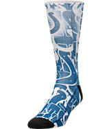 For Bare Feet Indianapolis Colts NFL Montage Crew Socks