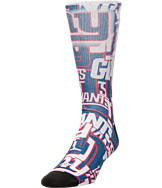For Bare Feet New York Giants NFL Montage Crew Socks