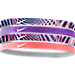 Front view of Girls' Nike 4-Pack Headbands in Blue/Berry/Sunblush