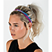Back view of Girls' Nike 4-Pack Headbands in Blue/Berry/Sunblush