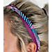 Alternate view of Girls' Nike 4-Pack Headbands in Blue/Berry/Sunblush
