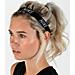 Back view of Nike Logo Sport Headband in Black/White