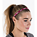 Back view of Nike 3-Pack Sport Headbands in Green/White/Pink/Silver