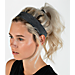 Back view of Nike Dry Sport Training Headband in Charcoal Heather/Black