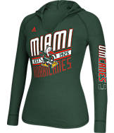 Women's adidas Miami Hurricanes College Hooded T-Shirt