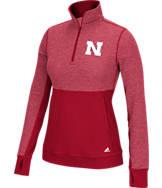 Women's adidas Nebraska Cornhuskers College Twist 1/2 Zip Shirt