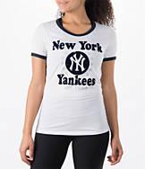 Women's New Era New York Yankees MLB Vintage Ringer T-Shirt