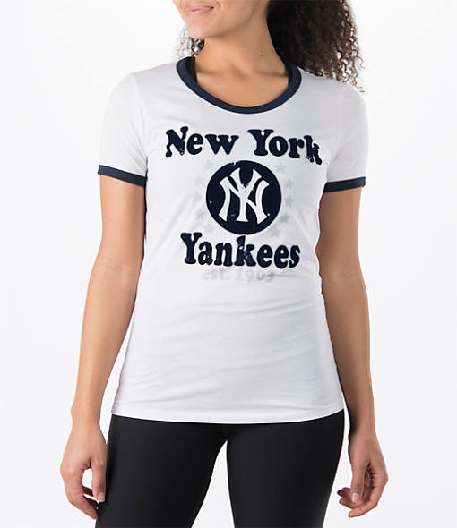 Women's New Era New York Yankees MLB Vintage Ringer T-Shirt