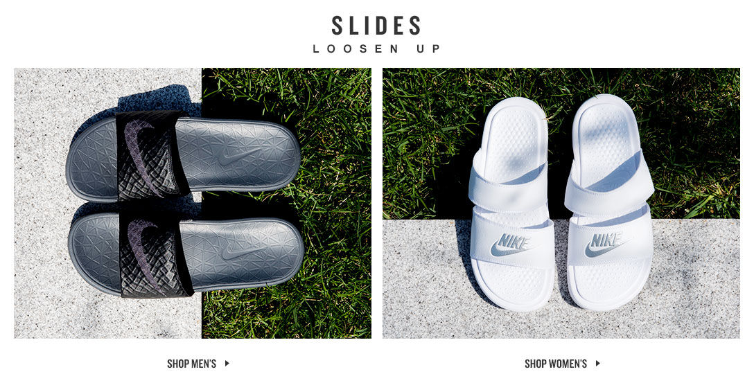 Slides and Sandals. Shop Now.