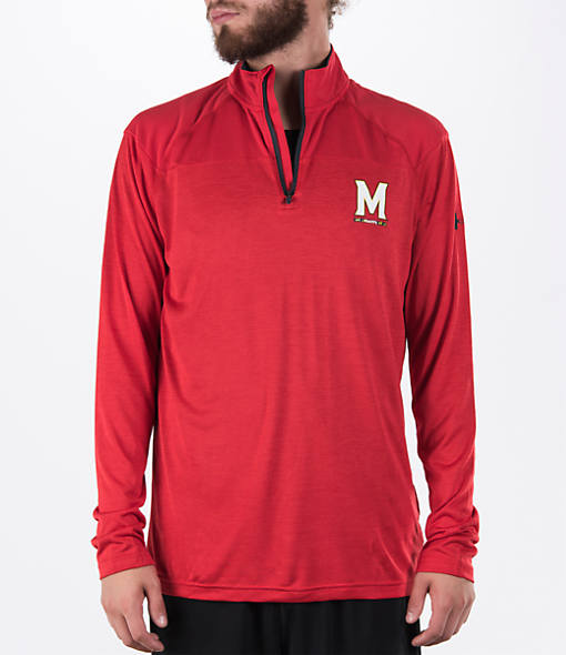 Men's Under Armour Maryland Terrapins College Two Tone Quarter-Zip Poly Shirt