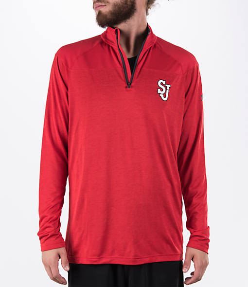 Men's Under Armour St. Johns Red Storm College Two Tone Quarter-Zip Poly Shirt
