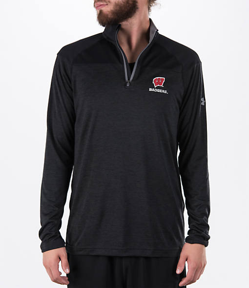 Men's Under Armour Wisconsin Badgers College Two Tone Quarter-Zip Poly Shirt