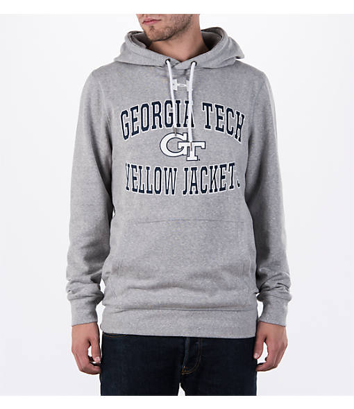 Men's Under Armour Georgia Tech Yellow Jackets College Two Tone Poly Quarter-Zip Pullover