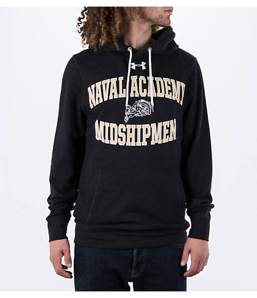 Men's Under Armour Navy Midshipmen College Tri-Blend Fleece Hoodie