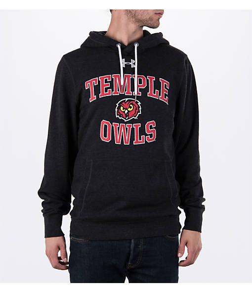 Men's Under Armour Temple Owls College Tri-Blend Fleece Hoodie