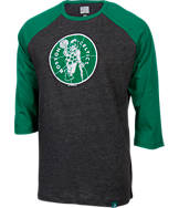 Men's Majestic Boston Celtics NBA Judge Raglan Shirt