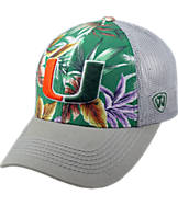 Top Of The World Miami Hurricanes College Ocean Front Fitted Cap