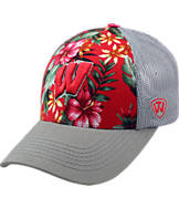 Top Of The World Wisconsin Badgers College Ocean Front Fitted Cap