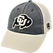 Front view of Top of the World Colorado Buffaloes College Heritage Offroad Trucker Adjustable Hat in Three Tone Team Colors