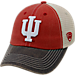 Front view of Top of the World Indiana Hoosiers College Heritage Offroad Trucker Adjustable Hat in Three Tone Team Colors