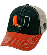 Top of the World Miami Hurricanes College Heritage Offroad Trucker Adjustable Hat