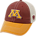 Front view of Top of the World Minnesota Golden Gophers College Heritage Offroad Trucker Adjustable Hat in Three Tone Team Colors