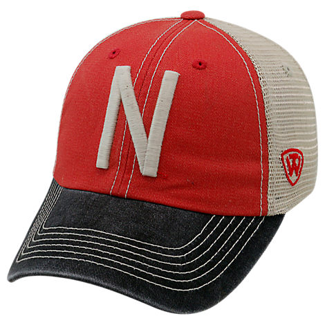 Top of the World Nebraska Cornhuskers College Heritage Offroad Trucker Adjustable Hat