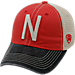 Front view of Top of the World Nebraska Cornhuskers College Heritage Offroad Trucker Adjustable Hat in Three Tone Team Colors