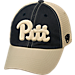 Front view of Top of the World Pitt Panthers College Heritage Offroad Trucker Adjustable Hat in Three Tone Team Colors