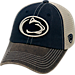 Front view of Top of the World Penn State Nittany Lions College Heritage Offroad Trucker Adjustable Hat in Three Tone Team Colors